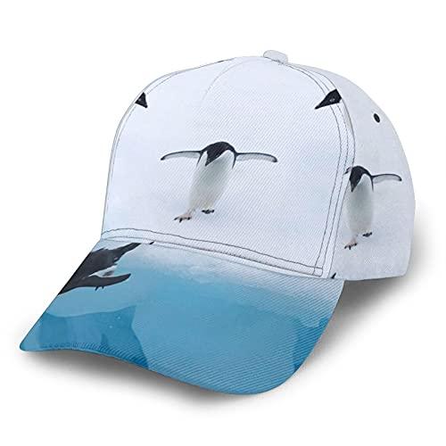 HARLEY BURTON Gorra de béisbol unisex con estampado de pingüinos de buceo de agua ajustable empalme Hip Hop gorra de sol negro