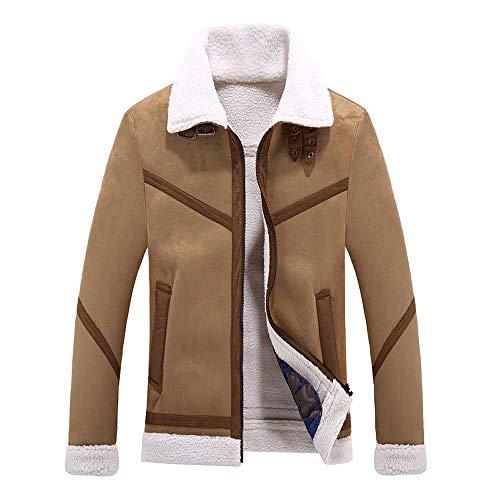Heren Shearling-mantel Fashion wintermantel kort warm slim fit