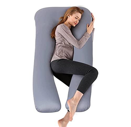 Almohada de Embarazo Almohada de Lactancia Almohada de Maternidad Multifuncional con Soporte para Todo el Cuerpo