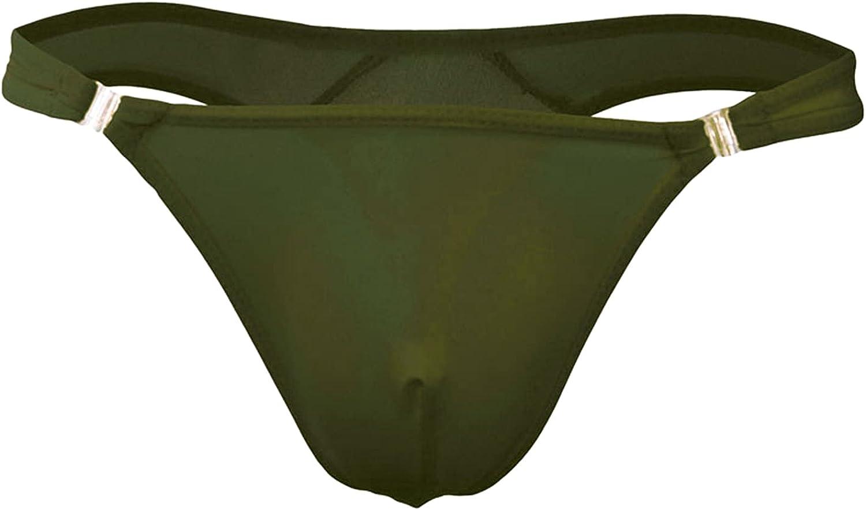 Men's Ice Silk Thongs Underwear Sexy Pouch Bikini Jockstrap G-String Briefs See Through Low Rise T-Back Thong Lingerie