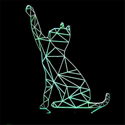 Estilo escandinavo Beckoning Cat 3D Luz de Noche Gato Luz de Noche Luz de Control Remoto Regalo