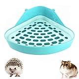 YGHH Piccolo WC in Plastica per Animali, Toilette per Piccoli Animali, Durevole Plastica Piccolo Animale Triangolo Toilette per Piccoli Animali, Criceti, Cincillà (Cielo Blu)