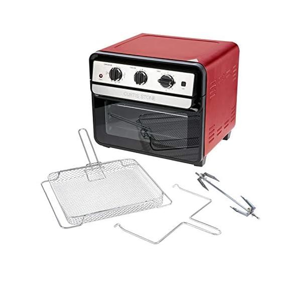 Curtis Stone Dura-Electric 1700-Watt 22L Air Fryer Oven w/Rotisserie – RED