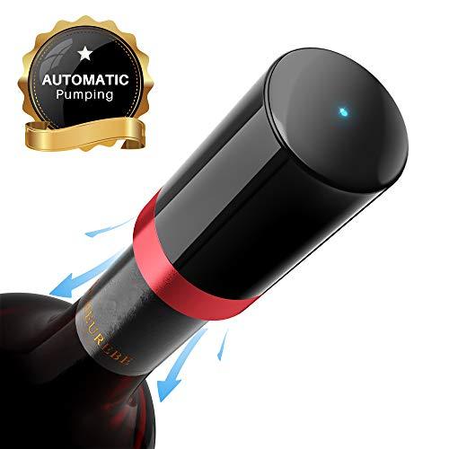 Elegear Weinflaschenverschluss Elektrisch Wein Stopfen Flaschenverschluss Weinverschluss Vakuum Weinpumpe Wiederverwendbar Auslaufsicher Weinflaschenverschluss Stopfen für Wein