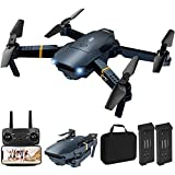 Drone with Camera for Adults, Foldable RC Quadcopter Kids Toys, 1080P HD FPV Video Drones for Beginners, 2 Batteries,Carrying Case,One Key Start,Altitude Hold,Headless Mode,Waypoints Function,3D Flips