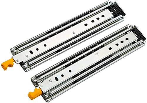 ZJSY 2 Pieces Heavy Duty 22 '' Drawer Slides,3-fold Full Extension Ball Bearing Drawer Slides with Lock Widening,Less Noise,400lb Capacity