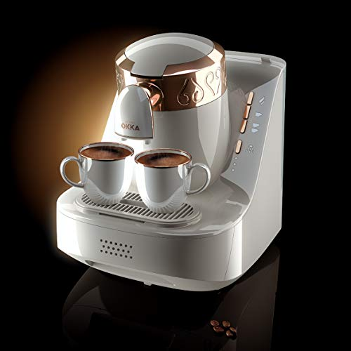 Arzum Okka OK001W 120V Turkish/Greek Coffee Machine, White/Copper (Gold)