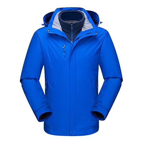 Zhuhuimin Herfst en winter paar modellen Jassen mannen en vrouwen drie-in-een tweedelige winddicht waterdicht ademend vispak outdoor ski pak 2XL 1