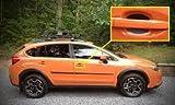 Flat Black Universal Auto Accessory Car Door Handle Scratch Cover Guards Protector Fits Subaru (4pk)