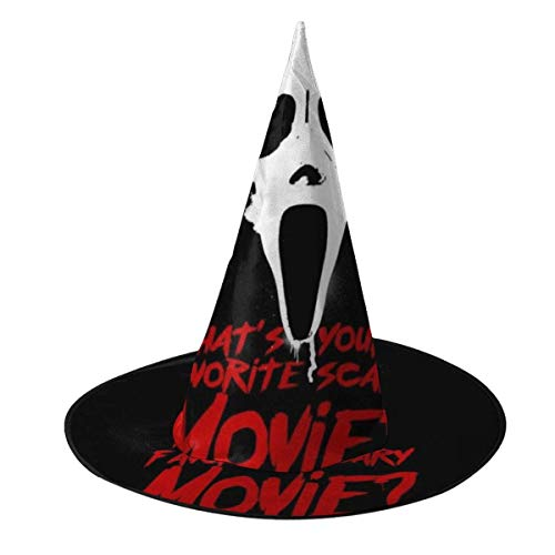Sombrero de Halloween Scream Favorito Pelcula de Miedo Sombrero de Bruja Halloween Disfraz Unisex para Vacaciones Halloween Navidad Fiesta de carnavales
