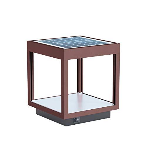 Beneito Faure - Lampada portatile, solare, a LED per esterni/giardino, in alluminio, da 3,5 W, 3000 K, 120°, colore CORTEN, modello VISOR