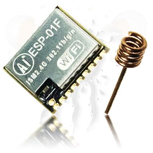 Androegg AI Thinker ESP-01F ESP8285 - Módulo de Memoria Flash (8 Mbit, Micro 10 x 11 mm, WiFi, WLAN, Baja Potencia)