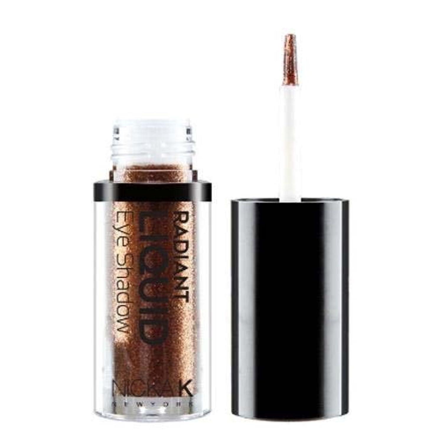 兄弟愛しわ貨物(3 Pack) NICKA K Radiant Liquid Eye Shadow - Earthly Bronzite (並行輸入品)