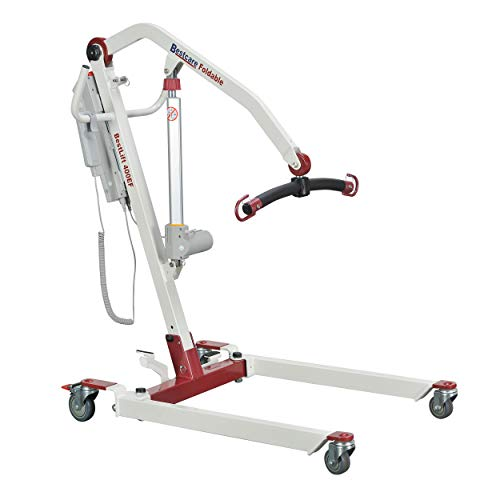 Bestcare PL400EF Foldable/Portable/Transportable Electric Mobile Floor Lift, 400 lbs Capacity
