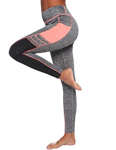 iClosam Leggins Deportivos Mujer Yoga De Alta Cintura Mujer Yoga Alta Cintura Gran EláSticos Fitness