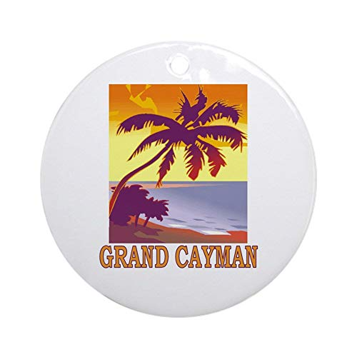 EaYanery Grand Cayman Ornament (Round) Personalized ceramic Holiday Christmas Ornament Ideas 2019