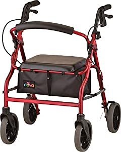 """FEATURES: From Petite to Tall, get the perfect fit and features with The Zoom Rolling Walker. It is the only Rolling Walker that comes in 4 seat heights 18"""", 20"""", 22"""", 24"""" - giving you the perfect sitting and standing fit. NOVA's signature rolling..."""