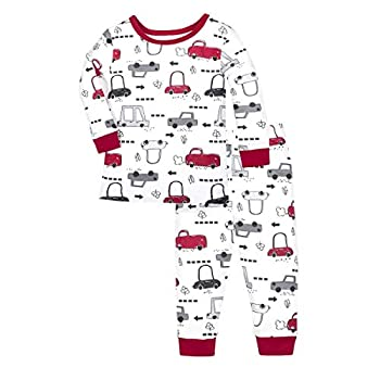 Lamaze Organic Baby Organic Baby/Toddler Girl Boy Unisex Tight Fit Pajamas Set Brandywine 3T