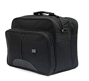 GOLDLINE Stylish Office Bag 23L/Travelling Bag/Backpack/Messenger Bag/Marketing Bag/Multipurpose Bag/Executive Bag/Satchel with Removable Shoulder Strap and Zippered Pockets Inside(37x28x22cm, Black)