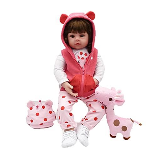 memoriesofu Reborn Baby Dolls-Soft Silikon Neugeborene Mädchen Puppe Reborn Girls Kleinkinder Mädchen Boy Geschenk für Alter 3+ (Pink 1, One Size)
