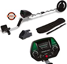 TREASURE COVE 1023 Metal Detector Kit, Easy to Use & Operate for Adults or teens, Waterproof Search Coil, Accessories Bag & Sand Scoop, Adjustable Height & Volume, High Accuracy & Easy to Read Display