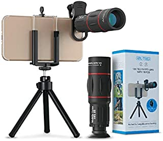 Apexel Universal 18X Clip-On Telephoto Telescope Camera Mobile Phone Zoom lens for iPhone X/8 7 Plus/6S Samsung Galaxy S8 ...