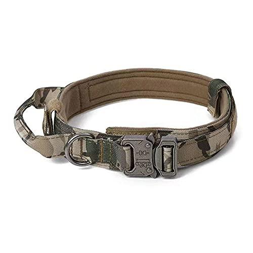 pawstrip Collar de perro táctico militar ajustable para cachorro, collar de nailon para entrenamiento al aire libre, para perros pequeños, medianos y grandes