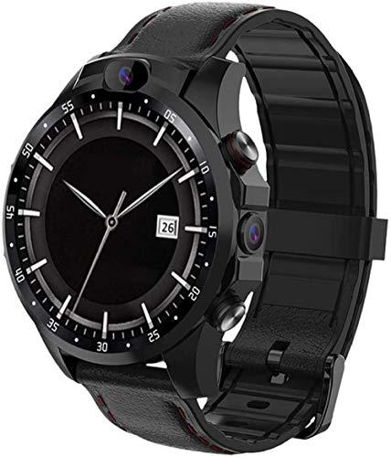 SHIJIAN Smart 4G completo Netcom reloj de doble cámara, 1.6 pulgadas quad-core Bluetooth podómetro con ritmo cardíaco, adecuado para hombres y mujeres regalos-Negro_3_+_32g