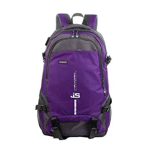 WXHWB Alle Abteilung Kleidung Schmuck Bergsteigen Rucksack Outdoor Freizeit Sport Wandern Camping Licht Wasserdicht Große Kapazität 65L, (Color : Purple)