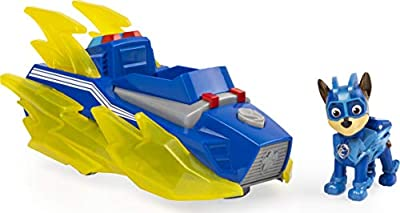 PAW Patrol Mighty Pups Charged Up Chase's Deluxe Vehicle with Lights and Sounds from Spin Master