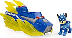 VEHICLE WITH LIGHTS AND SOUNDS: Chase's cruiser features lights and sounds and caster wheels that make it possible to drive in any direction! Push the button to activate the lights and sounds! HOVERCRAFT MODE: With working caster wheels, it's easier ...