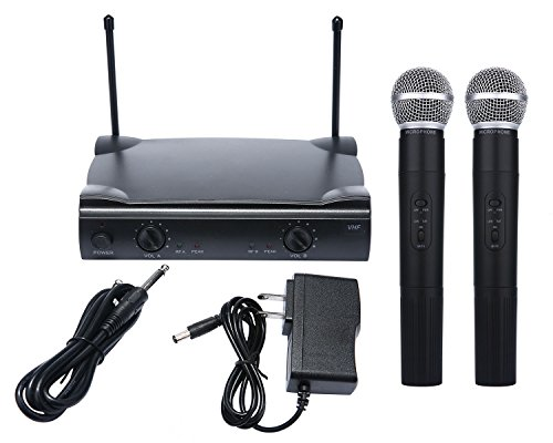 [WALLER PAA] Pro Dual WIRELESS CORDLESS MICROPHONE SYSTEM & WIRELESS UT4 TYPE MIC for SHURE