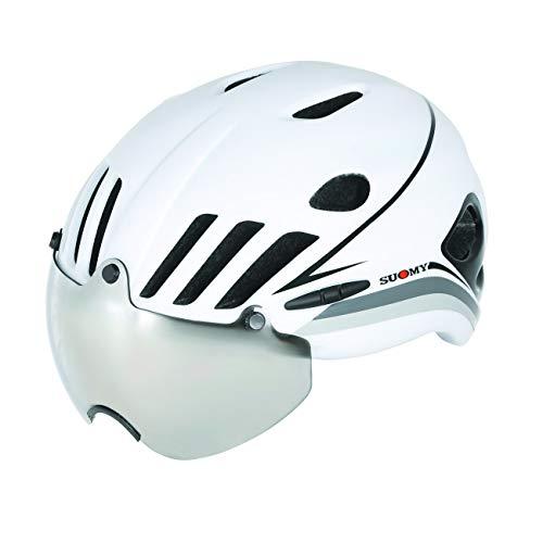 Suomy Casco Strada Vision blanco/negro, talla L (cascos MTB y carretera)