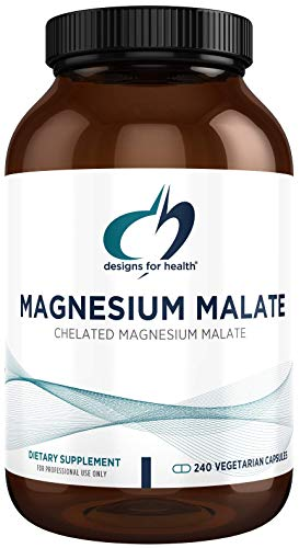 Designs for Health Magnesium Malate - 360mg Bio-Available High Absorption Magnesium Malic Acid Supplement - Supports Energy and Muscle Recovery High Absorption - Non-GMO and Gluten Free (240 Capsules)