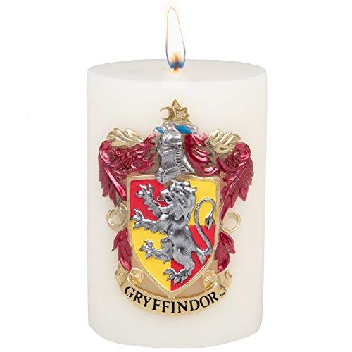 Insight Editions Harry Potter Gryffindor Abzeichen große Kerze geformt 8,5 Multi ge Kerze Säule mit 80 Stunden brennen Mal magisches Geschenk für Fans und Studenten der Gryffindor