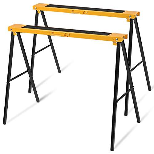DREAMADE klappbock 2er set, Klappbock Klappbar Gerüstbock-Set Arbeitsbock aus Eisen, Unterstellbock Stützbock 125 kg Belastbar
