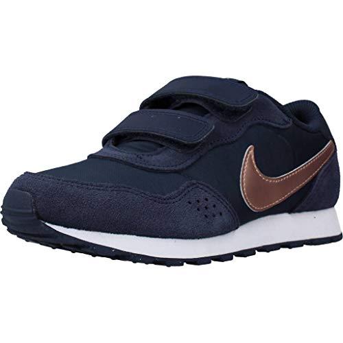 Nike Md Valiant (PSV) Sneaker, Midnight Navy/MTLC Red Bronze, 30 EU