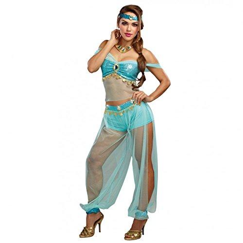Premium Bodywear AG Disfraz de Dama Harems Princesa Top Harem Pants Turquesa Oriente 1001 Noches (L)