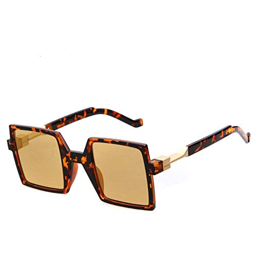 des Lunettes de Soleil Sunglasses Lunettes De Soleil Carrées pour Hommes Lunettes De Soleil Design pour Femmes Mode Uv400 Thé