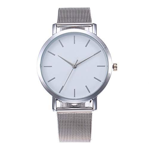 ZWH Moda Mujeres Relojes Simple romántico de Rose Reloj de Oro de Las Mujeres del Reloj de señoras del Reloj del relogio Feminino Reloj Mujer Dropship (Color : Silver)