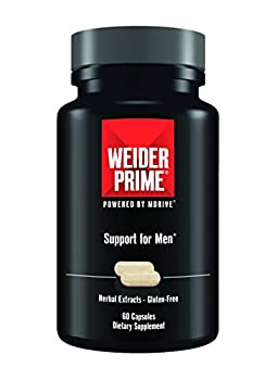 Weider Prime | Support for Men | - Supports Energy Strength Focus Stress Lean Muscle - 60 Capsules