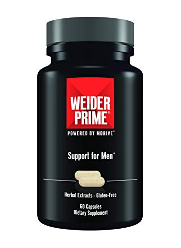 Weider Prime | Support for Men | - Supports Energy, Strength, Focus, Stress, Lean Muscle - 60 Capsules