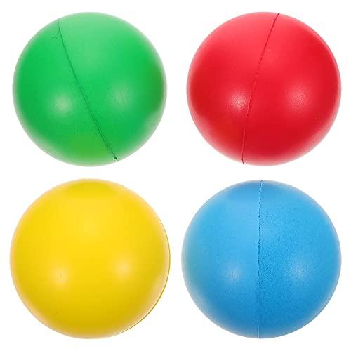 NUOBESTY Bolas de estresse de 4 peças, bolas de apertar de poliuretano, bolas de pressão, bolas adesivas de teto para parede, brinquedos lentos presentes para crianças, adultos, azul, amarelo, vermelho, verde