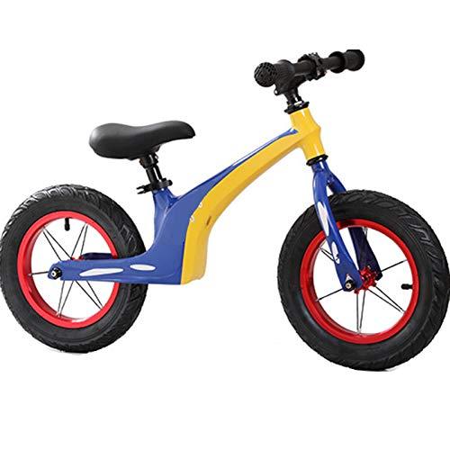 TOOSD Bicicleta De Equilibrio Bicolor De 12'para Niños Pequeños De 2 A 6 Años Bicicleta De Equilibrio Ligera para Caminar para Niños Y Niñas, Asiento Ajustable En Altura,C