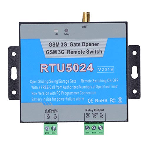 Apertura de puerta RTU5024 GSM / 3G, abridor de puerta de garaje inteligente, controlador de interruptor de control de acceso remoto con antena, compatible con Alexa/Google(EU)