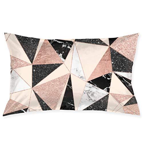 KCOUU - Funda de cojín de microfibra suave de color liso, color negro, blanco, rosa, rosa, dorado, para cama de matrimonio