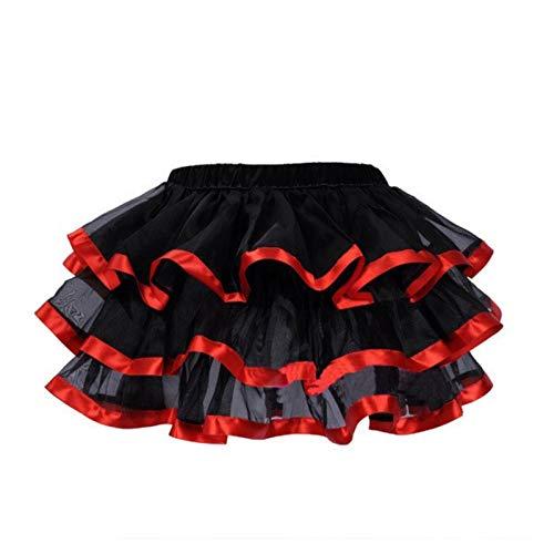 Corsé de Mujer Burlesque Dancer Dress Bruja Halloween Sexy Underbust Bustier Corset Vestido de corsé gótico Rojo con Minifalda