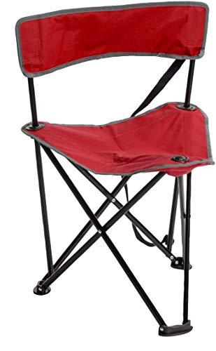 Redcliffs Chaise de camping en acier inoxydable Rouge 90 x 40 cm