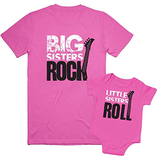 Nursery Decals and More Matching Sibling Shirts, Big Sisters & Little Sisters, Includes Size 2 & 0-3 mo