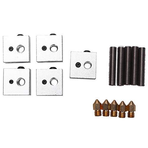Timagebreze 5 Teile/Satz Anet A8 1,75 Mm PTFE Hals Rohr 0,4 Mm Extruder Düse Druck K?pfe M6 Heiz Block Hotend für 3D Drucker Teile